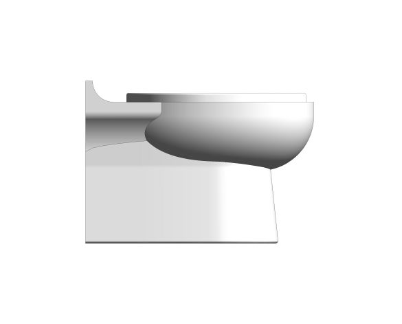 bimstore side image of the Rimless Infant Toilet Pan from Trade Washrooms