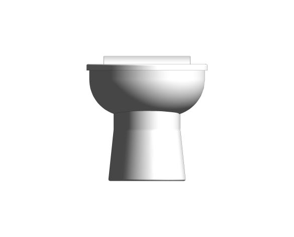 bimstore front image of the Rimless Junior Toilet Pan from Trade Washrooms