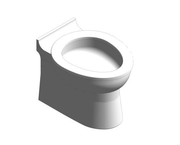 bimstore 3D image of the Rimless Junior Toilet Pan from Trade Washrooms