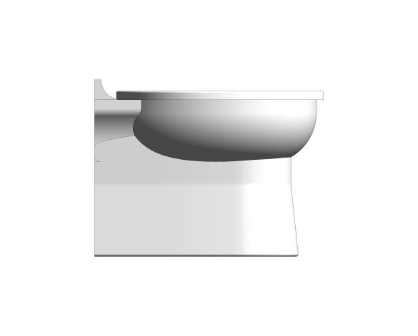 bimstore side image of the Rimless Junior Toilet Pan from Trade Washrooms