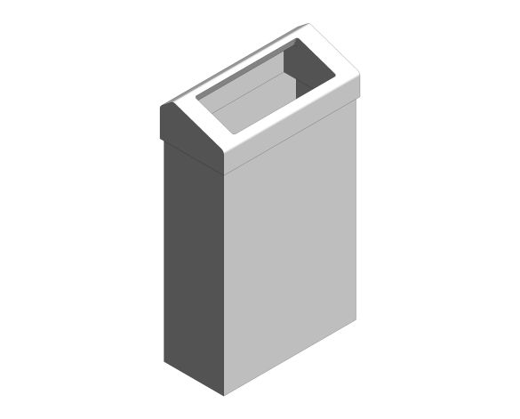 bimstore 3D image of the Stainless Steel 30-Litre Waste Bin Chute Lid from Trade Washrooms