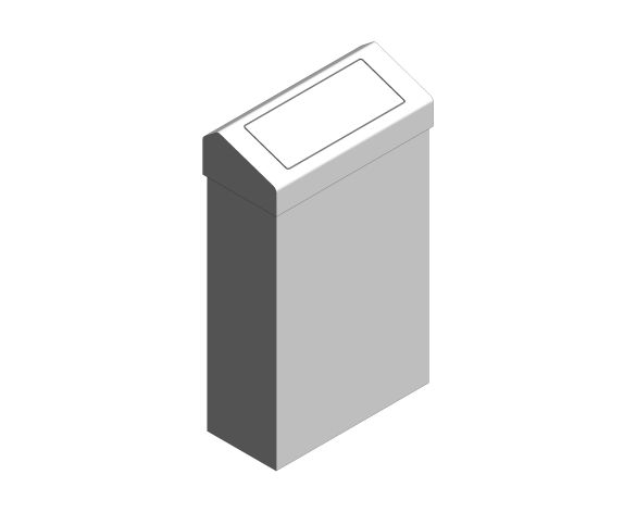 bimstore 3D image of the Stainless Steel 30-Litre Waste Bin Flap Lid from Trade Washrooms