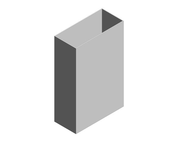 bimstore 3D image of the Stainless Steel 30-Litre Waste Bin Open Top from Trade Washrooms