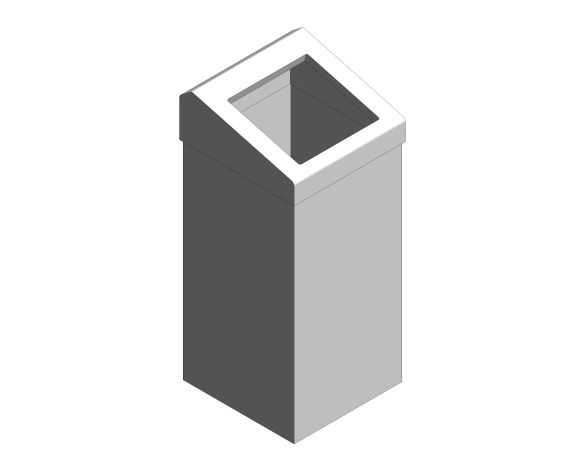bimstore 3D image of the Stainless Steel 50-Litre Waste Bin Chute Lid from Trade Washrooms