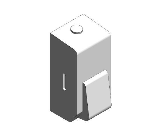 bimstore 3D image of the Stainless Steel Compact Soap Dispenser from Trade Washrooms