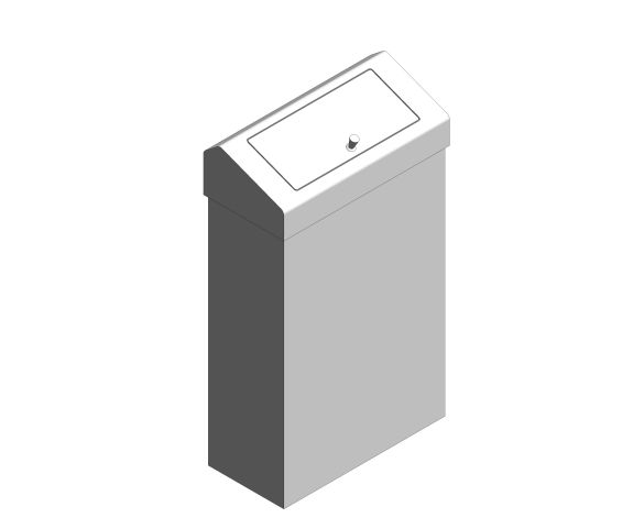 bimstore 3D image of the Stainless Steel Sanitary Waste Bin from Trade Washrooms