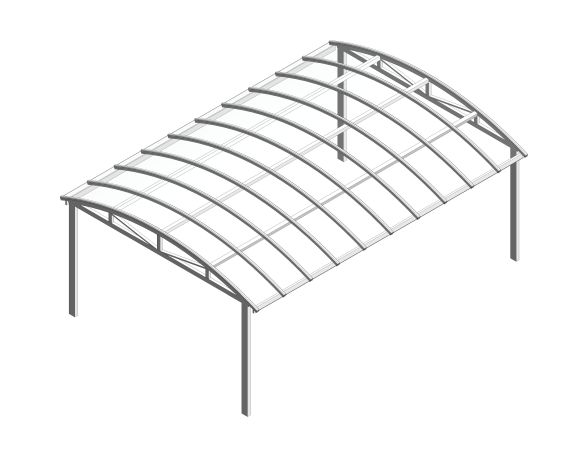 bimstore 3D image of the Free Standing Barrel Vault Canopy from Twinfix