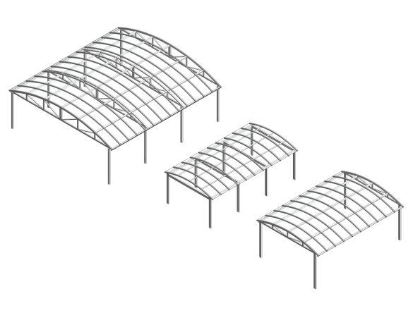 bimstore 3D all image of the Free Standing Barrel Vault Canopy from Twinfix