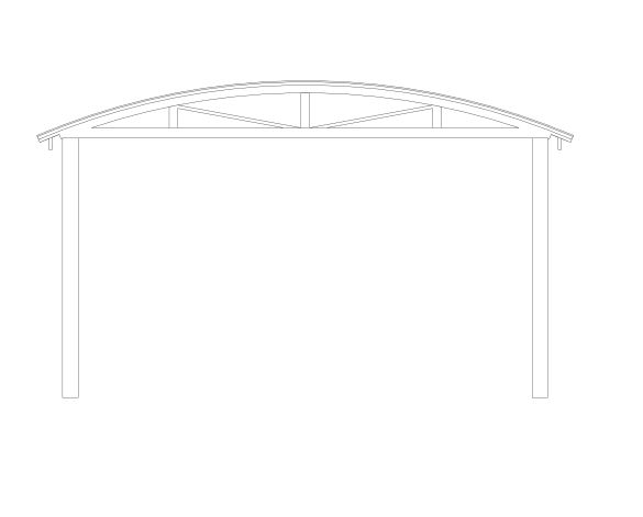 bimstore side image of the Free Standing Barrel Vault Canopy from Twinfix