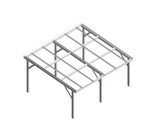 Product: Free Standing Mono Pitch Canopy