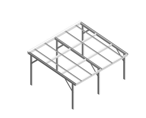 bimstore 3D image of the Free Standing Mono Pitch Canopy from Twinfix