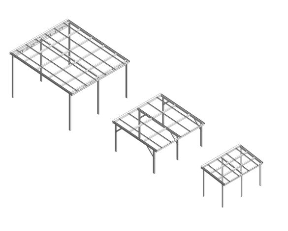 bimstore 3D all image of the Free Standing Mono Pitch Canopy from Twinfix