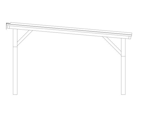 bimstore side image of the Free Standing Mono Pitch Canopy from Twinfix