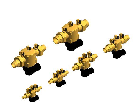 bimstore 3D all image of the Watts BA BM coudes - Backflow preventer BA type