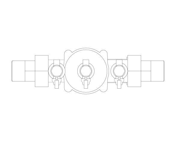 bimstore plan image of the Watts BA BM coudes - Backflow preventer BA type