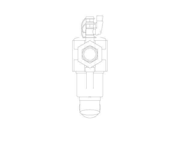 bimstore side image of the Watts BA BM coudes - Backflow preventer BA type