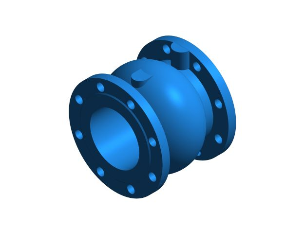 bimstore 3D image of the Watts CNR 402 - Non-return Valve Axial Guided