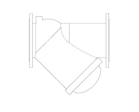 bimstore plan image of the Watts CNR 408 - 418 Non-return Ball check valve