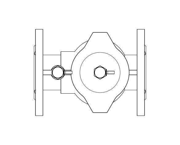 bimstore plan image of the Watts EA 453 - Anti-pollution Cast Iron Check Valve