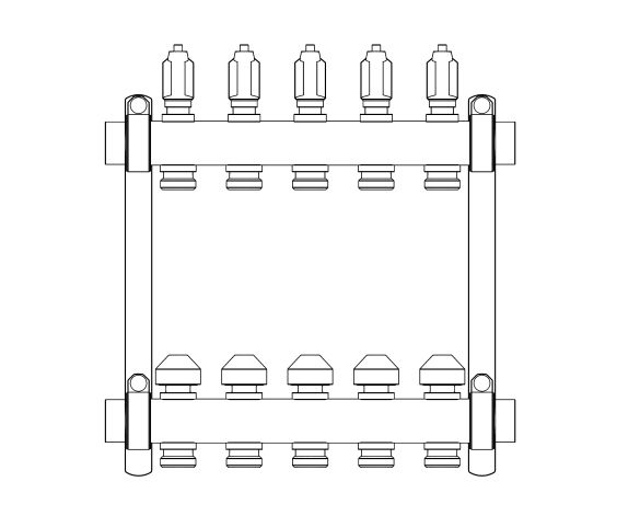 Product: Manifold NL Stainless Steel HKV2013A (0-4L)