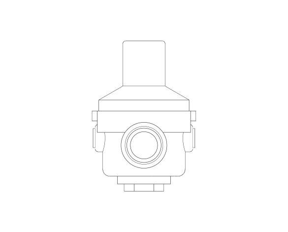 bimstore side image of the Watts RDP 11 Pressure Reducing Valve