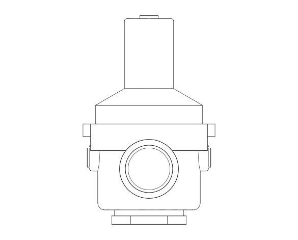 bimstore side image of the Watts RDP 11bis Pressure Reducing Valve