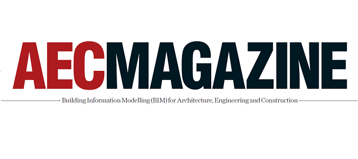 Logo: <b>bim</b>store objects dominate the front cover of this month's AEC Magazine