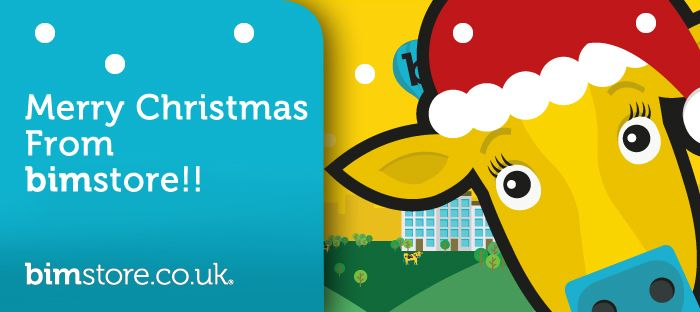 Logo: bimstore wish you a very merry Christmas!