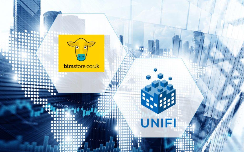 Logo: bimstore and UNIFI - Partnership Announcement