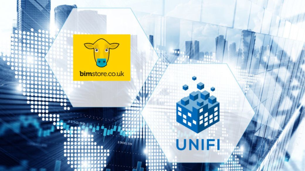 Logo: bimstore and UNIFI - Partnership Announcement