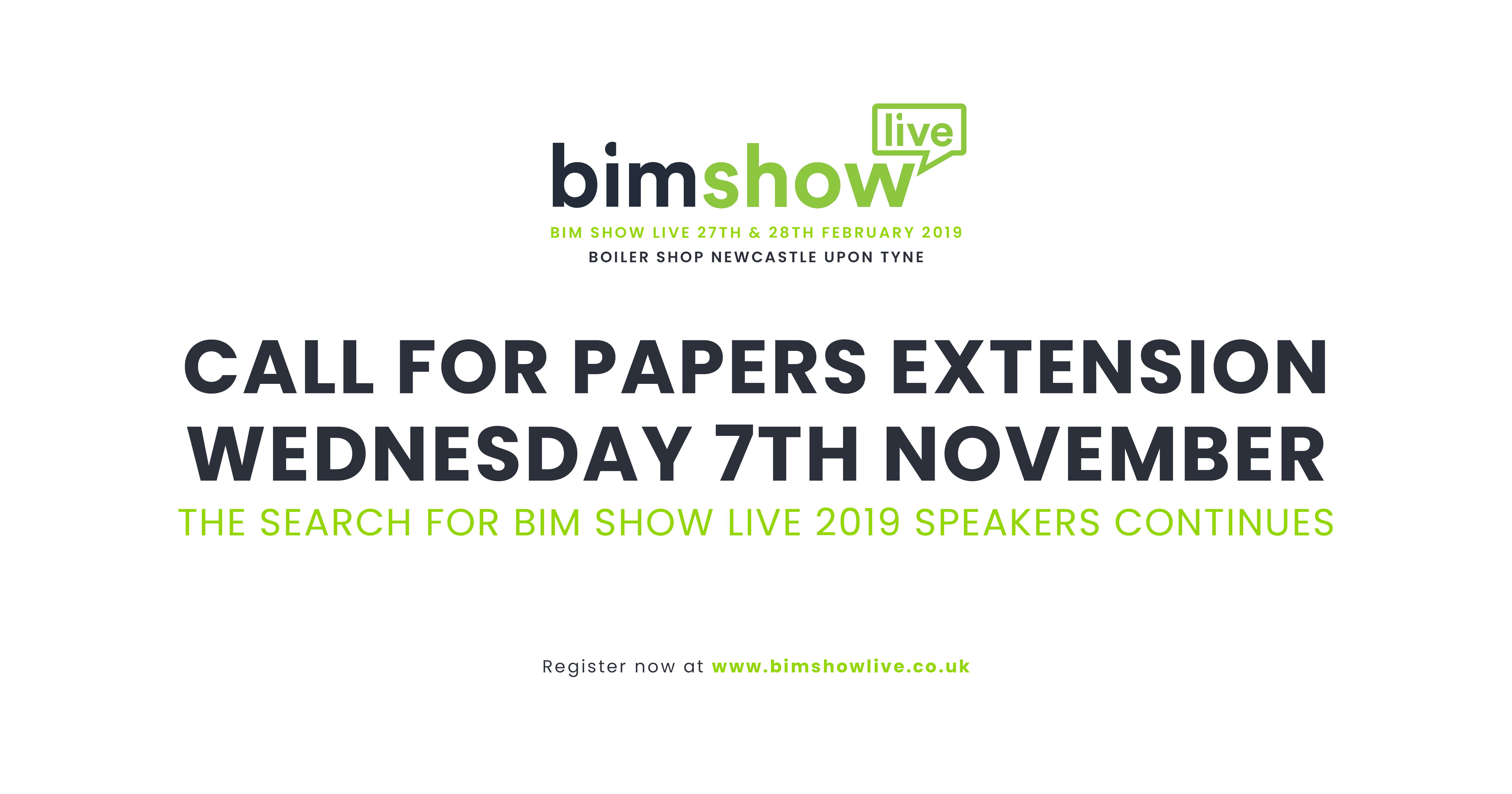 Logo: BIM Show Live Call for Papers deadline extends to November 7th 2018