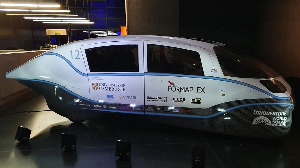 Cambridge University solar-powered car, Helia