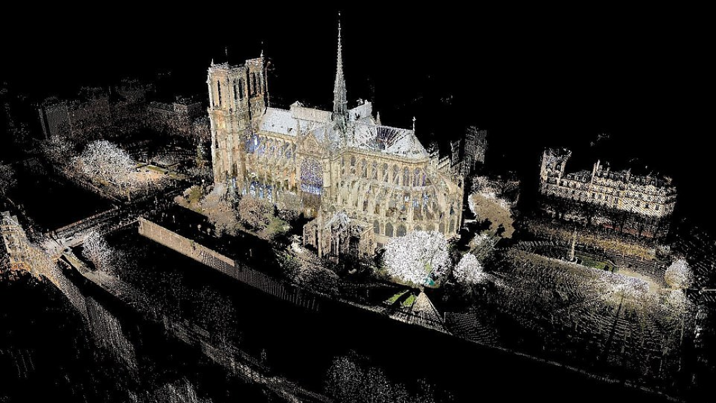 Digital reconstruction of Notre Dame